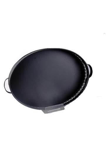 Bayev Metal Siyah Oval Büyük Tepsi - 200367 Siyah